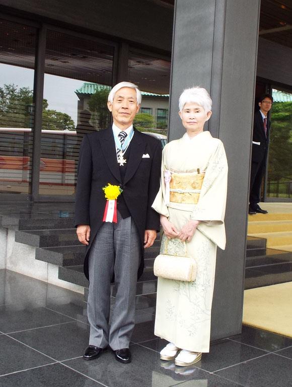 瑞宝中綬章を受章した狩谷昭男元種苗管理センター所長