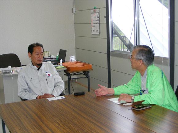戸羽市長と会談