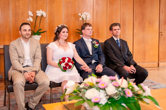 Hochzeitsfotos im Frankfurter Standesamt