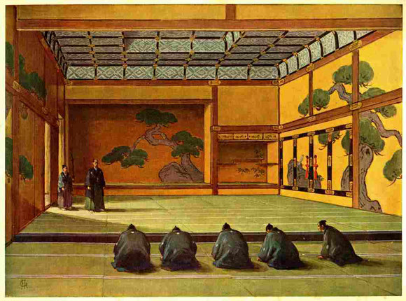 将軍徳川慶喜、大政奉還発表の図