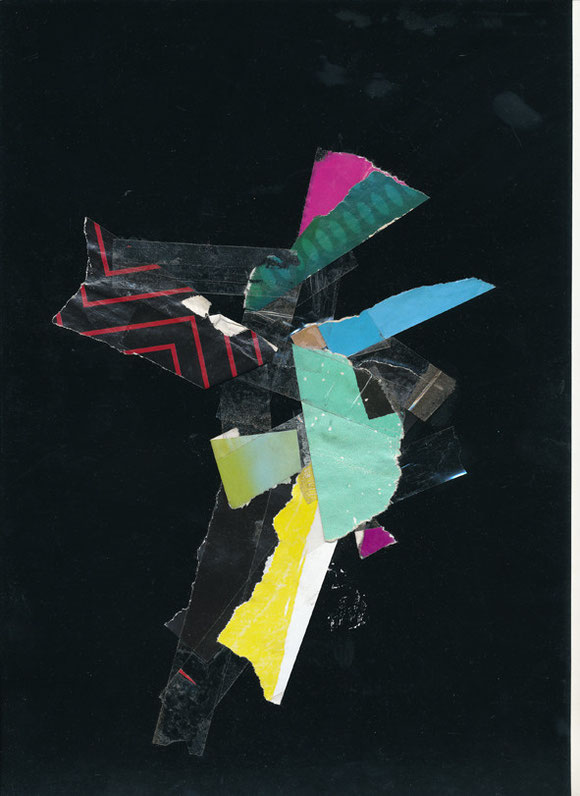 Lerchenfelderstrasse  series, collage#12, 2014, founded  taped poster rests, 29,7x21 cm