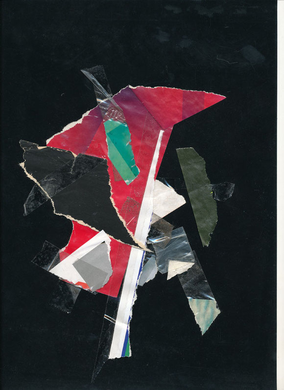 Lerchenfelderstrasse  series, collage#13, 2014, founded  taped poster rests, 29,7x21 cm