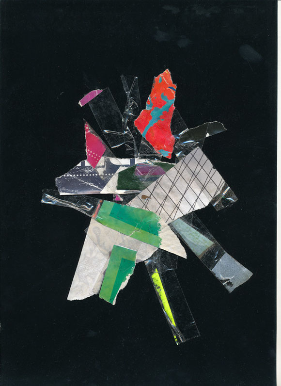 Lerchenfelderstrasse  series, collage#5, 2014, founded  taped poster rests, 29,7x21 cm