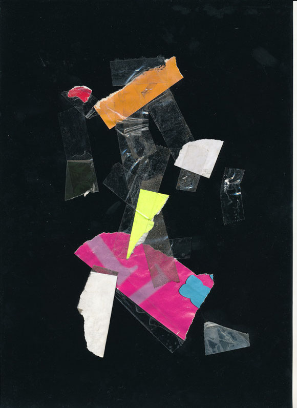 Lerchenfelderstrasse  series, collage#16, 2014, founded  taped poster rests, 29,7x21 cm
