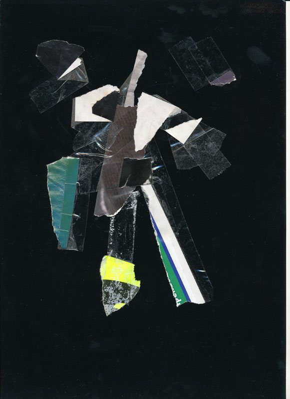 Lerchenfelderstrasse  series, collage#20, 2014, founded  taped poster rests, 29,7x21 cm