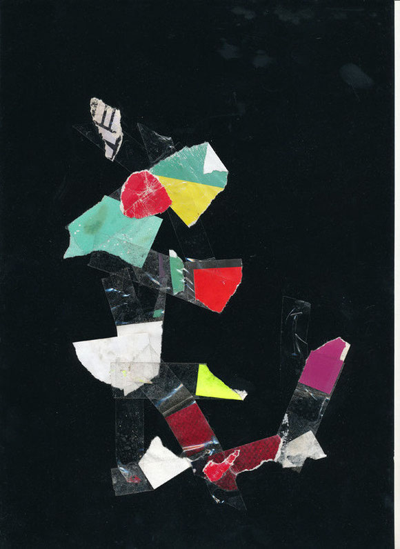 Lerchenfelderstrasse  series, collage#18, 2014, founded  taped poster rests, 29,7x21 cm