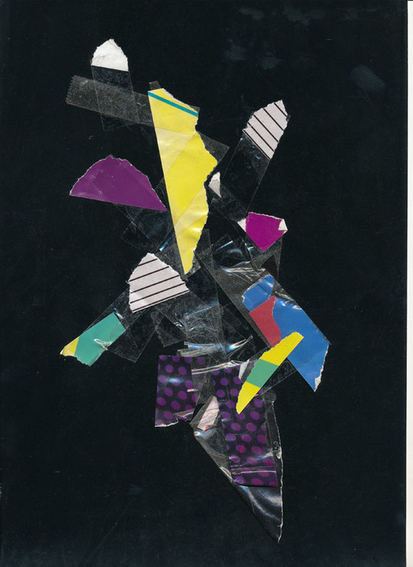 Lerchenfelderstrasse  series, collage#15, 2014, founded  taped poster rests, 29,7x21 cm