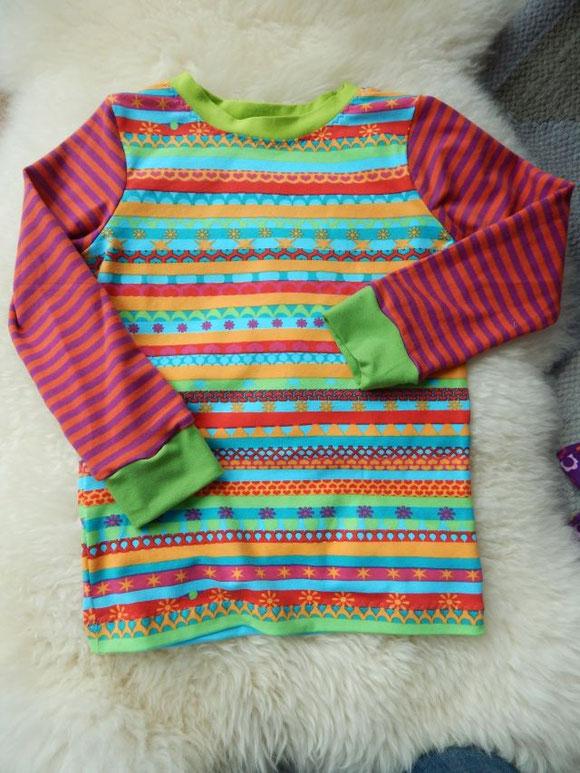 Kindershirt, Jerseyshirt, handgenäht, Handarbeit, Lillestoff
