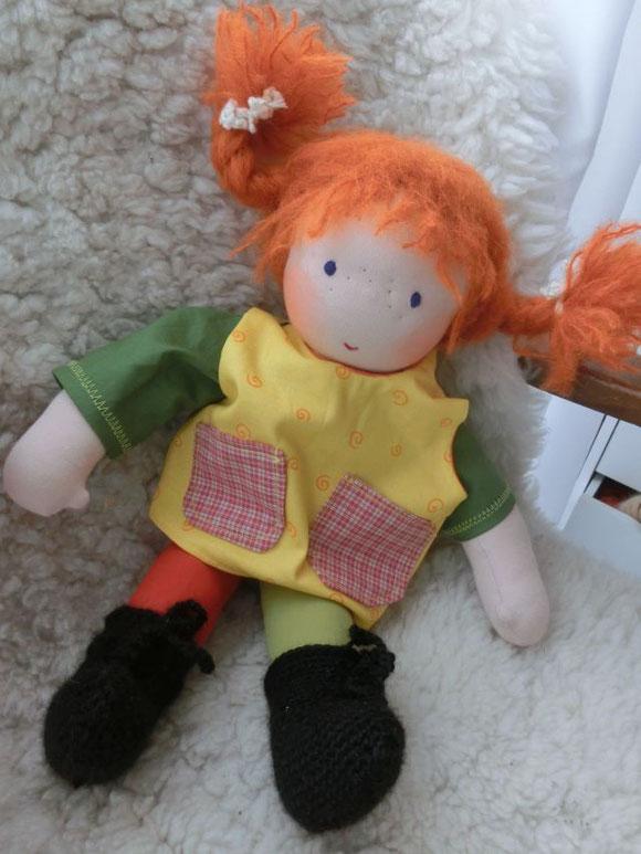Stoffpuppe Pippi, Stoffpuppe Pippi Langstrumpf, Pippi, Langstrumpf, Astrid Lindgren