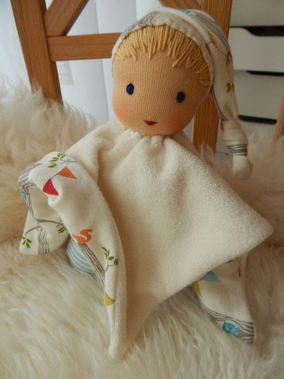 Tuchpuppe, Erstlingspuppe, Babypuppe, Waldorfpuppe, handgemachte Puppe, Handarbeit, Waldorfart, Steiner Puppe, steiner doll, cloth doll, handmade doll, Bio