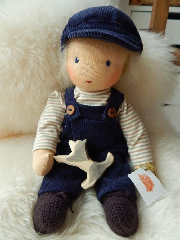 Puppenjunge, Stoffpuppenjunge, Waldorfpuppe, Stoffpuppe, Waldorfart, Steiner Puppe, steiner doll, cloth doll, Bio-Stoffpuppe, Michel