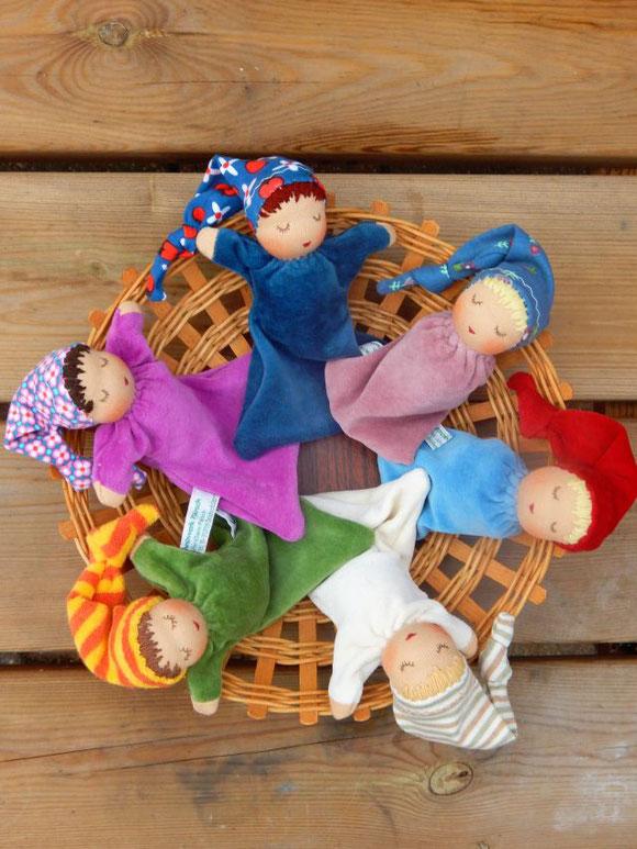 Nuckelpüppchen, Greifling, handgemacht, Bio-Greifling, ökologischer Greifling, Puppenhandwerk, Pärsch
