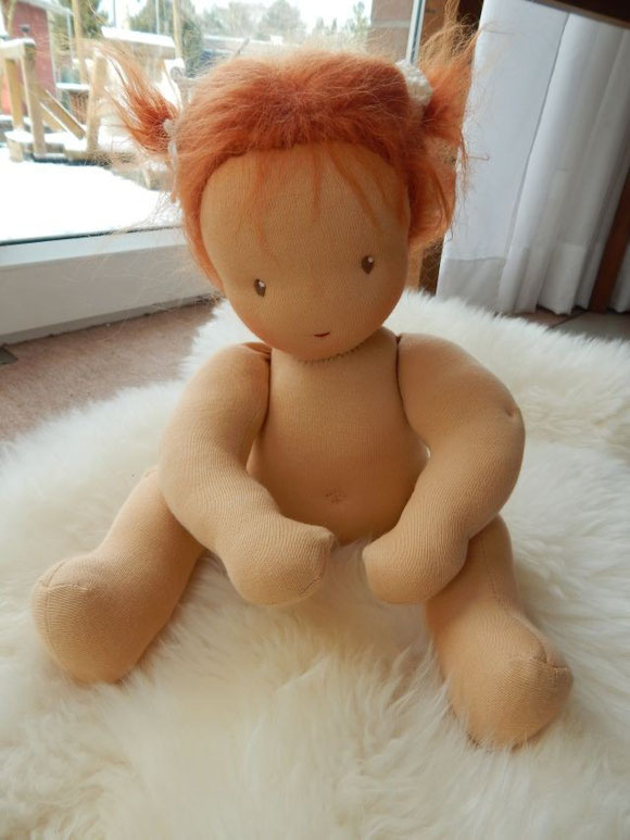Waldorfpuppe, Stoffpuppe, clothdoll, Waldorf style doll, Babypuppe, Öko, ecological doll
