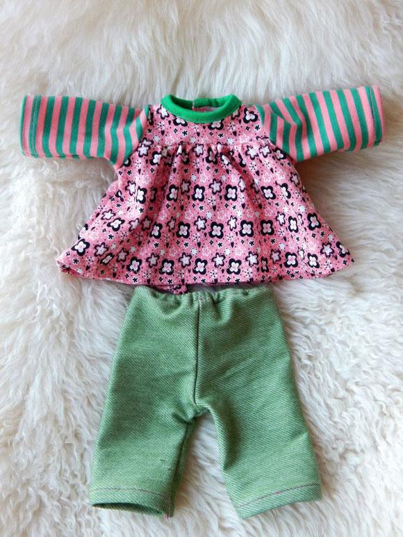 Puppenkleiderset, Puppenkleidchen, Empirekleid für Puppen, Puppenleggings