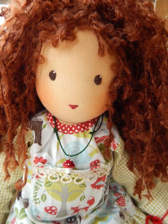 Waldorfpuppe, Stoffpuppe, handgemacht, Handarbeit, nach Waldorfart, Steiner Puppe, steiner doll, Ronja, Waldmädchen