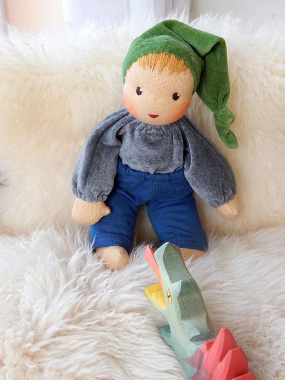 Wunschpuppe, Erstlingspuppe, erste Puppe, Schlamperle, Stoffpuppe wie Waldorfpuppe, Kuschelpuppe, handgemachte Stoffpuppe, cuddle doll, toddler doll, Puppe für Junge, steiner doll, PuppenHandWerk, individuelle Puppe, Puppe die dem Kind ähnelt, Puppenjunge