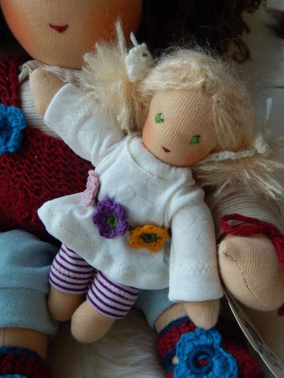 Minipüppchen, Stoffpuppe, Waldorfpuppe, Rudolf Steiner Puppe, Minipuppe, GOTS, Bio-Stoffpuppe, cloth doll, steiner doll, anthroposophy, Ostern