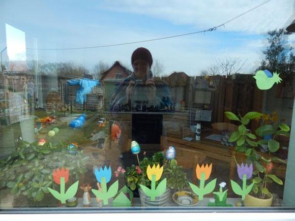 Tulpen basteln, Schneeglöckchen basteln, mit Kindern
