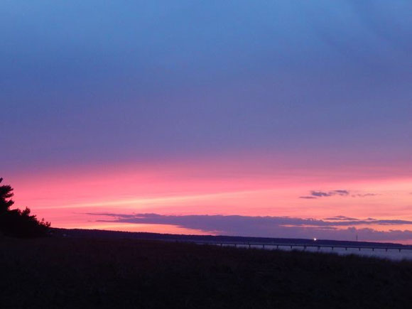 Sonnenuntergang, Leuchtturm Darßer Ort, Natureum