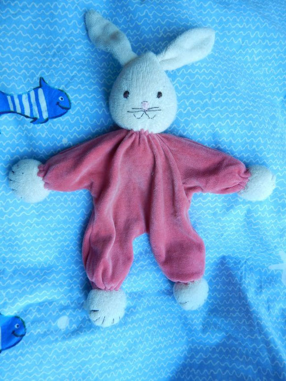 Tuchpuppe, Tuchhase, Kuschelhase, cuddle rabbit, Hasenschlamperle, rabbit cuddle doll