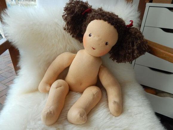 Waldorfpuppe, Stoffpuppe, nach Waldorfart, Rudolf Steiner Puppe, steiner doll, cloth doll, waldorf doll, Babypuppe, Biostoffpuppe, handgemachte Stoffpuppe, Handarbeit, handgemachte Waldorfpuppe