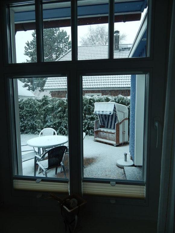 Prerow, Küstentraum, Ferienhaus, Schnee im Frühling