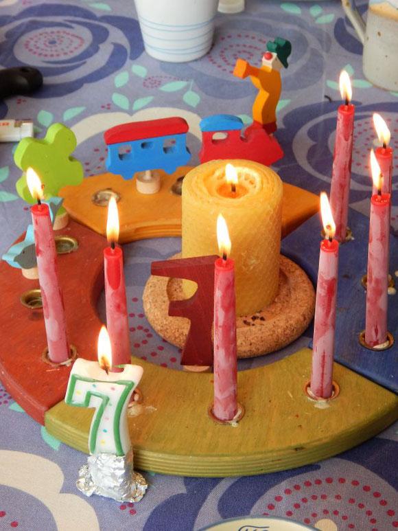 Geburtstagskerzen Bienenwachs, Geburtstagsring