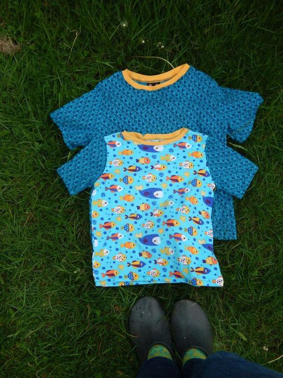 T-Shirts aus Lillestoffen nach Schnitten von farbenmix