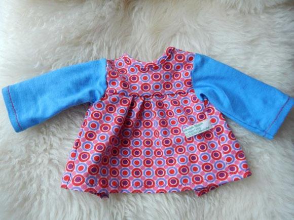 Puppenkleid aus Bio-Stoffen, Empire-Kleid, Puppenhandwerk Pärsch