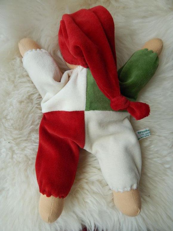 Schlamperle, selbstgemacht, handgemacht, Handarbeit, Waldorf, Kuschelpuppe, Erstlingspuppe, erste Puppe, Steiner Puppe, steiner doll, cuddle doll, Waldorfpuppe, Waldorf doll, Patchworkanzug