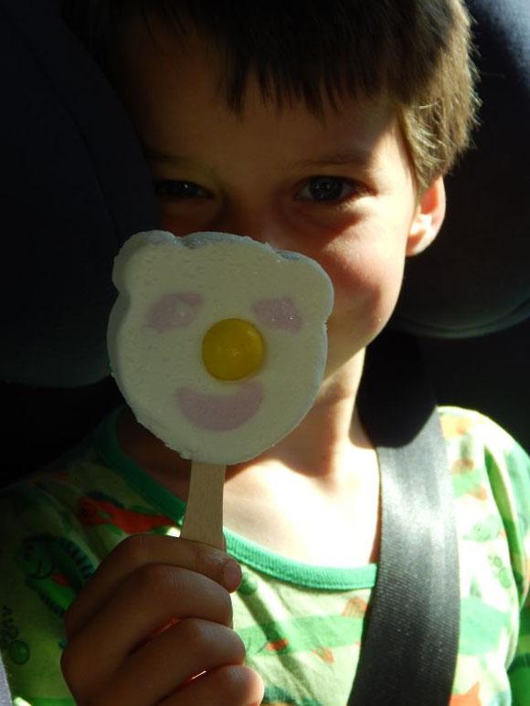 Eisglück (mit dem Eis, das ich schon aus meiner Kindheit kannte)