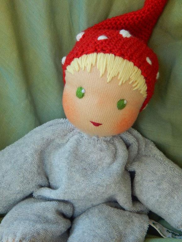 Schlamperle, Puppe, ökologische Kinderpuppe, Waldorf, Puppenhandwerk, dollmaking, Waldzwerg, Kuschelpuppe, Erstlingspuppe,