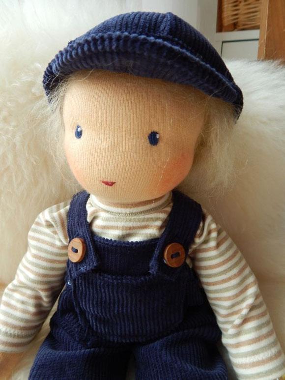 Puppenjunge, Stoffpuppenjunge, Waldorfpuppe, Stoffpuppe, Waldorfart, Steiner Puppe, steiner doll, cloth doll, Bio-Stoffpuppe