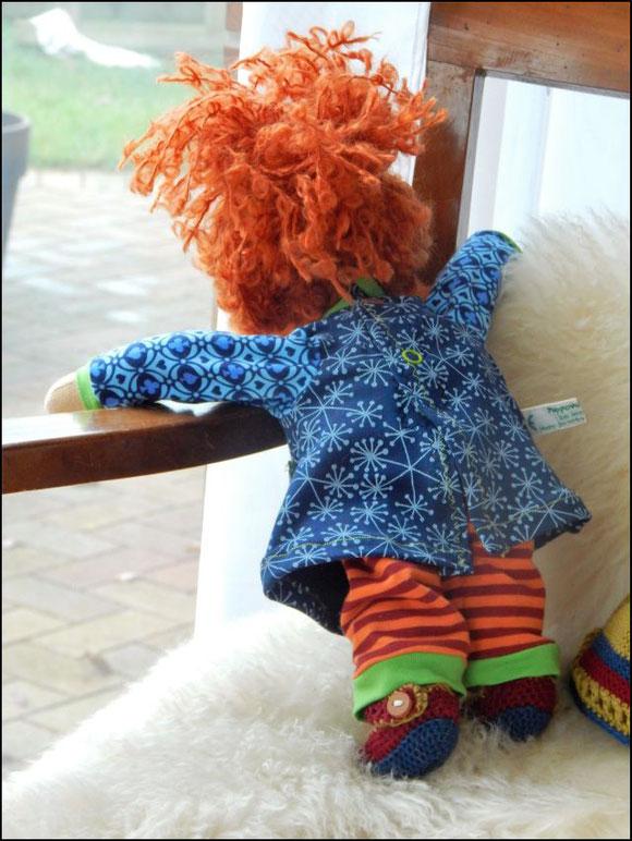 Stoffpuppe, Bio-Stoffpuppe, handgemachte Stoffpuppe, ökologische Kinderpuppe, Puppenhandwerk, Pärsch, individuelle Puppe, Wunschpuppe, Puppe passend zum Kind, organic cloth doll, companion doll, individual doll, Steiner doll