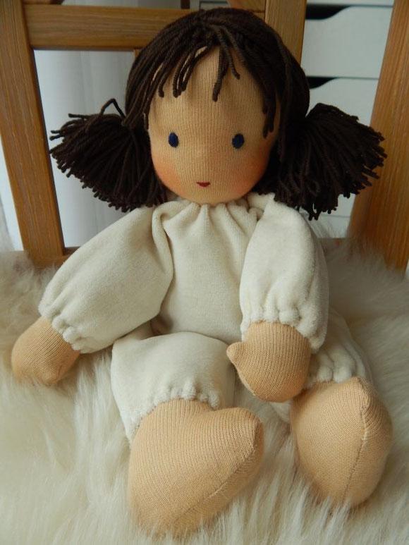 Stoffpuppe, nach Waldorfart, handgemacht, Waldorfpuppe, Schlamperle, cuddle doll, Steiner doll, Steiner Puppe