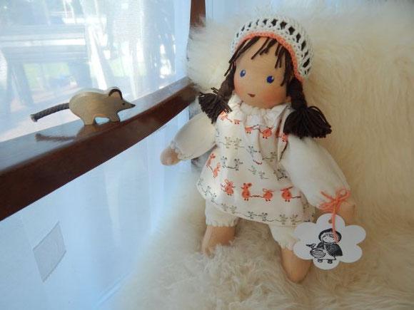 Schlamperle, Waldorf, Waldorfart, Bio, handgemacht, Handarbeit, Kuschelpuppe, Waldorfpuppe, Steiner, steiner doll, cuddle doll, cloth doll