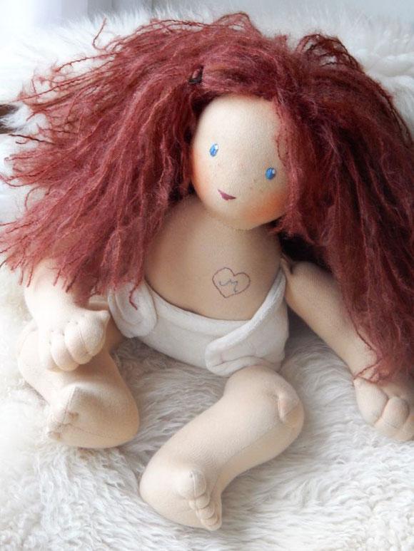 Wunschpuppe, individuelle Puppe, ökologische Kinderpuppe, Stoffpuppe handgemacht, nach Art der Waldorfpuppe, Bio-Stoffpuppe, Puppe passend zum Kind, Babypuppe Handarbeit, Puppenhandwerk, Pärsch, Steiner doll, organic cloth doll, handmade cloth doll