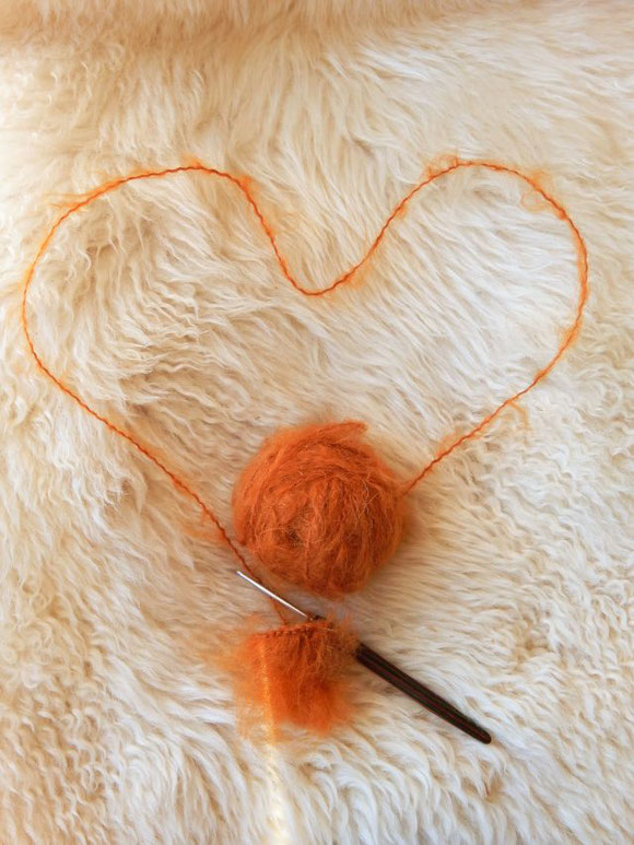 DollyMo WOOLLY Mohair, Rust, Kamrins Poppenatelier, Kamrin te Kronnie
