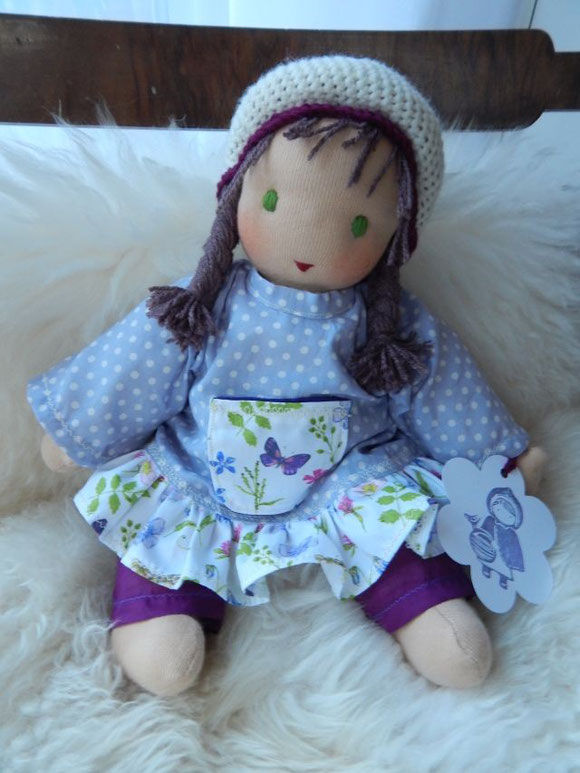 Schlamperle, Waldorf-Schlamperle, Kuschelpuppe, Waldorfpuppe, Steiner doll, cloth doll, Pärsch, Puppenhandwerk,