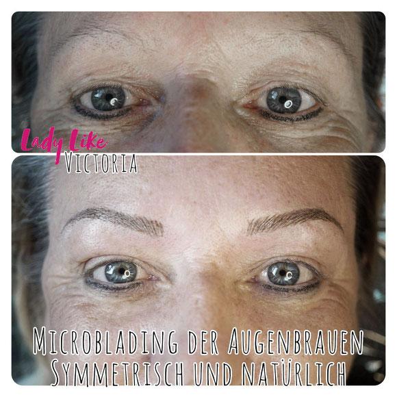 Symmetrische und dem Typ-angemessene neue Augenbrauen