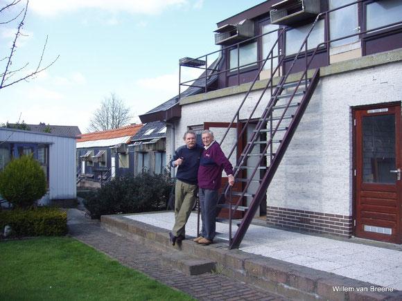 Willem avec Piet Lazeroms