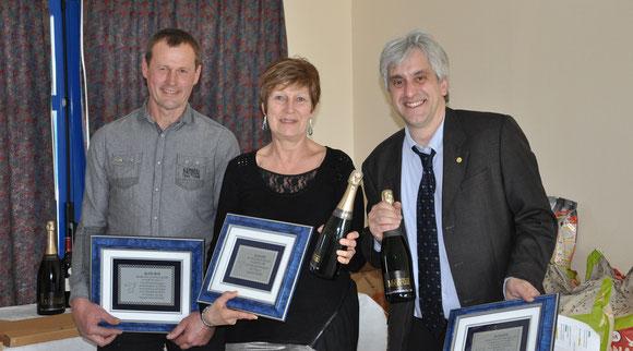 Les lauréats des Trophées : Jean-paul Bazire, Marian Pieprzyk et Stéphane Bellamy