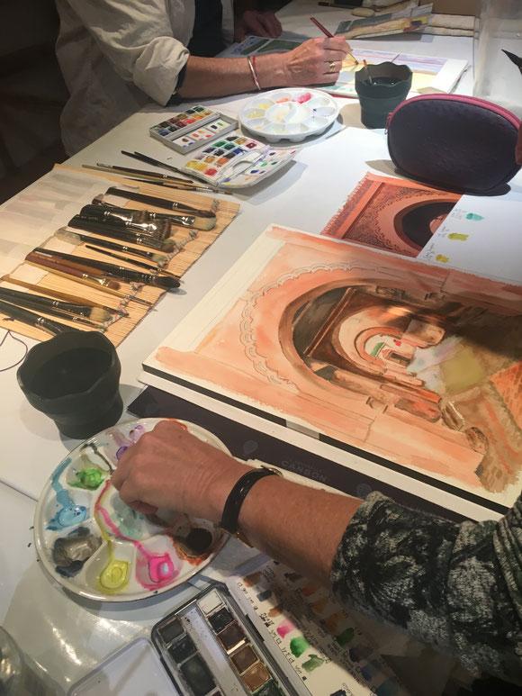 cours de peinture Aix en Provence-atelier Martine H