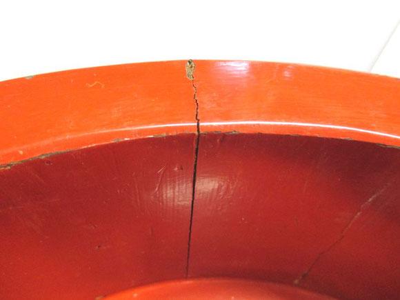 寿司桶 破損箇所
