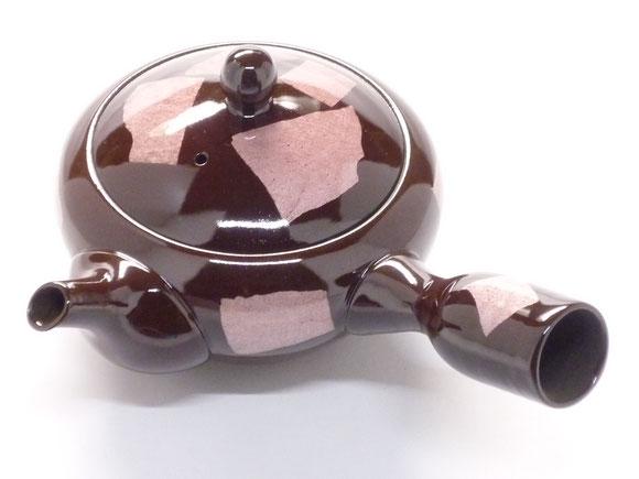 百華園-廃盤製品 九谷焼×萬古焼急須 銀彩ピンク