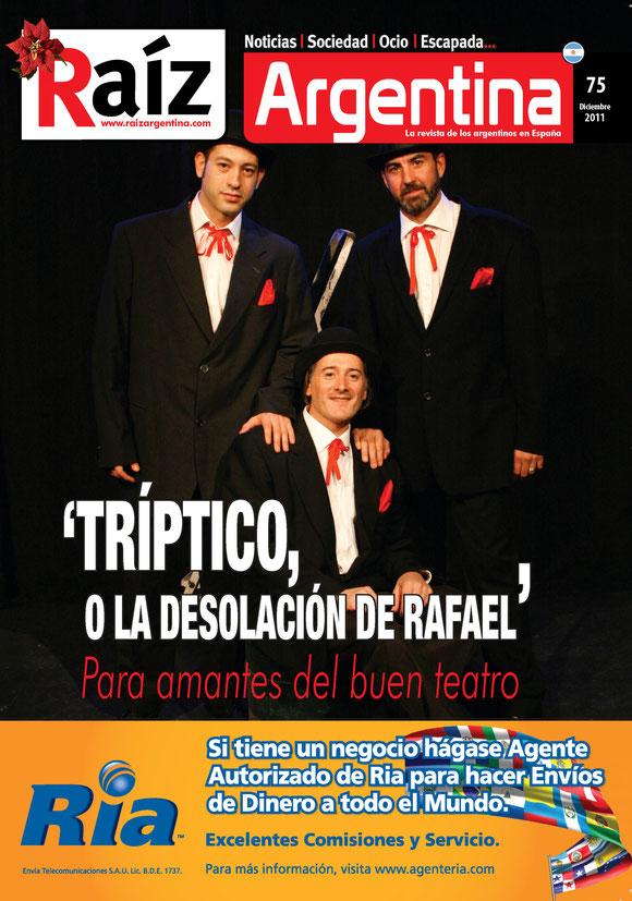 Tapa revista Raíz Argentina de Madrid