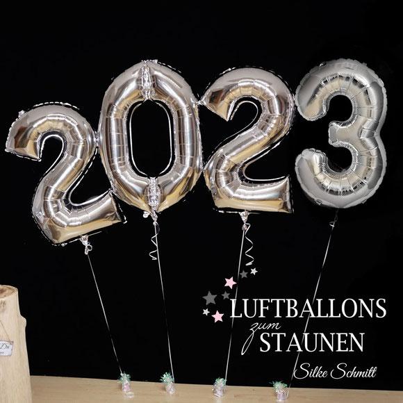 Folenballon Versand Heliumballon Ballon Luftballon Zahlenballon Ballonzahl 2020 Neujahr Silvester Silvesterparty Party Feier Mitbringsel Geschenk Deko Dekoration Tischdekoration silber gold rosegold