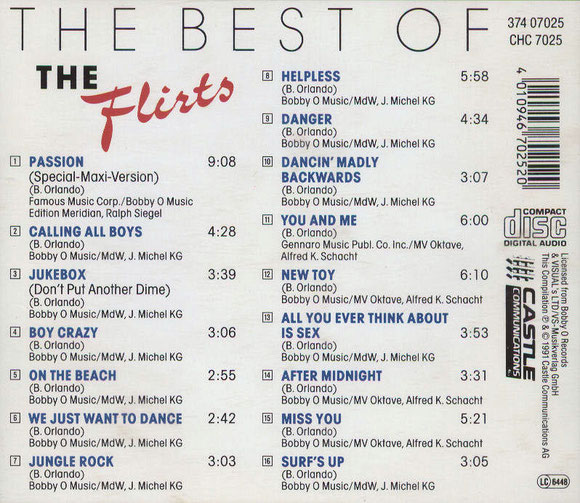 THE FLIRTS - THE BEST OF (hinten)