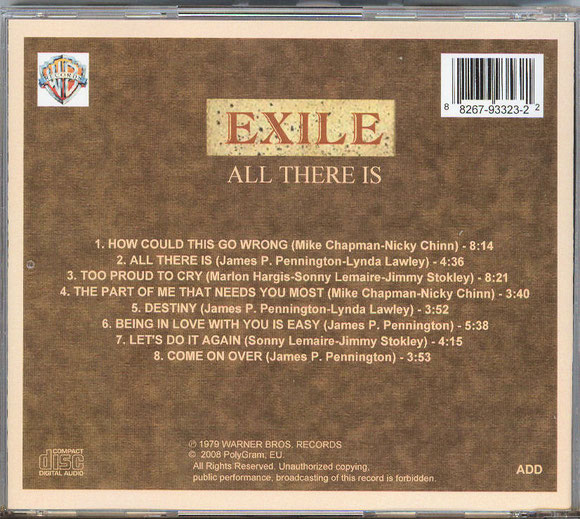 EXILE - ALL THERE IS (hinten)