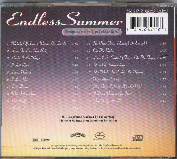 DONNA SUMMER - ENDLESS SUMMER (hinten)